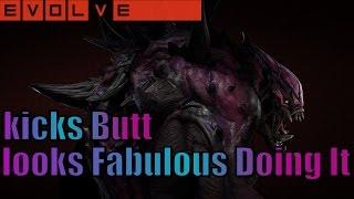 getlinkyoutube.com-Evolve Stage 2: He kicks Butt And looks Fabulous Doing It - Goliath Cosmic Skin