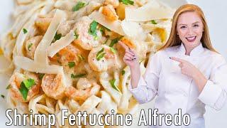 Easy Shrimp Fettuccine Alfredo