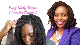 Easiest Kinky Twists Ever: Crochet Braids with Freetress Cuban Twist Hair