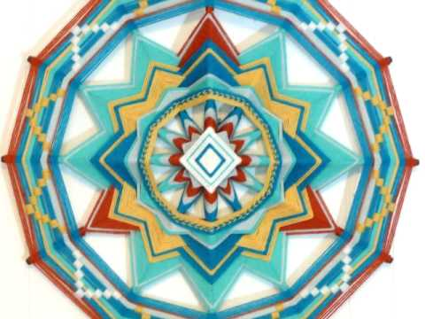 My artwork, the Ojo de Dios yarn mandala