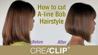 getlinkyoutube.com-How to cut A-line Bob Hairstyle - Aline bob haircut!