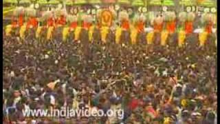getlinkyoutube.com-Thrisur Pooram Kuda mattam  Temple festival India