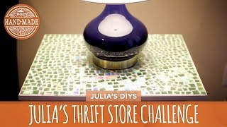 getlinkyoutube.com-Julia's Thrift Store Challenge: Mosaic Tabletop - HGTV Handmade