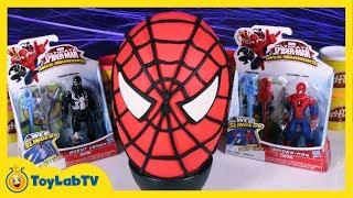getlinkyoutube.com-Giant Spiderman Play Doh Surprise Egg with Marvel, Minecraft, Big Hero 6 & My Little Pony Blind Bags