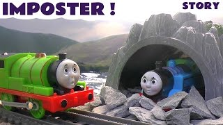 getlinkyoutube.com-Thomas and Friends Imposter Story | Thomas Y Sus Amigos | Pirate Hook Treasure theft | Toytrains4u