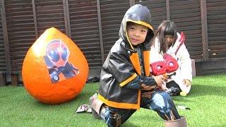 getlinkyoutube.com-仮面ライダー ゴースト おもちゃ たまご 戦いごっこ こうくんねみちゃん GIANT EGG SURPRISE TOYS Kamen Rider Ghost