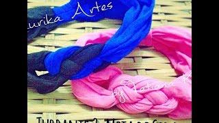 getlinkyoutube.com-Turbante 2: Trançado de Meia de Seda by Tatiana Karina