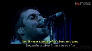 Oasis - Stop Crying Your Heart Out (Sub Español + Lyrics) width=