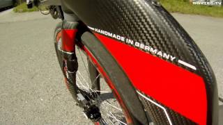 getlinkyoutube.com-102,6Km/h Speeddownhill mit TROYTEC Liegerad