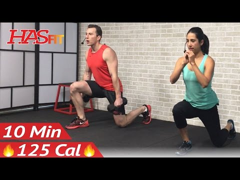 10 Min Home Leg Workout Routine - Legs Thighs Buttocks Workout for Women & Men Lower Body Exercises