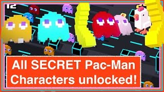 getlinkyoutube.com-CROSSY ROAD ALL SECRET PAC-MAN 256 CHARACTERS UNLOCK! | Inky, Clyde, Blinky, Pinky | Update (iOS)