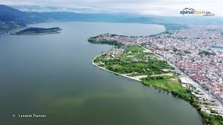 Ioannina from above, a travel through time