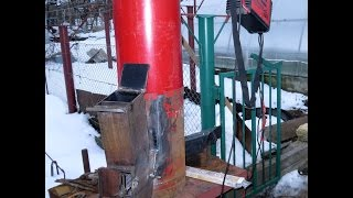 getlinkyoutube.com-дровяная РАКЕТНАЯ ПЕЧЬ ( 2) ROCKET STOVE часть 1