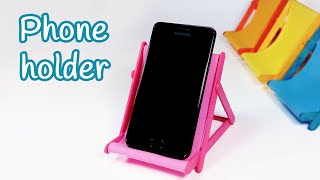 getlinkyoutube.com-DIY crafts: PHONE HOLDER (beach chair) from ice cream sticks - Innova Crafts