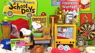 getlinkyoutube.com-RE-MENT Snoopy Charlie Brown's School Days スヌーピー チャーリーブラウンのスクールデイズ チャーリーブラウンのスクールデイズ 全8種類