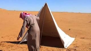 getlinkyoutube.com-خيمة الطرقي والعجل اي شراع مستطيل اقلبه خيمة   small and easy tent