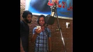 كواليس ترقبو يوسف الصبيحاوي وصباح الفريداوي وحسين العيداني في استوديو الفن الحسيني 2014