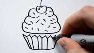 getlinkyoutube.com-How to Draw a Cartoon Cupcake