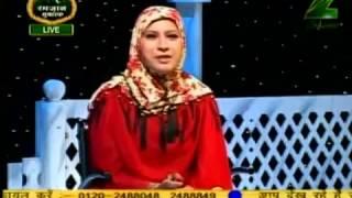 Shaikh Arshad Basheer Madani & Sis. Nasreen Fatima on Zee Salaam Ramzaan Aaj August 25 '11 Part - 2