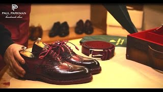 getlinkyoutube.com-Paul Parkman Handmade Shoes for Men - How to Make Goodyear Welted Shoes
