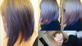 getlinkyoutube.com-How to dye your hair=Lavender= カラートリートメントで青に染めてみた