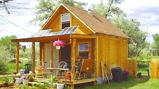 getlinkyoutube.com-How to build a 14x14 solar cabin