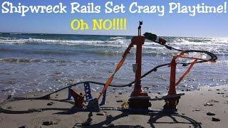 getlinkyoutube.com-Thomas & Friends Trackmaster Shipwreck Rails Set Crazy Playtime at the Beach