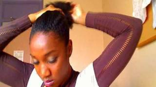 getlinkyoutube.com-4b natural hair style: when you messed up & need a quick fix