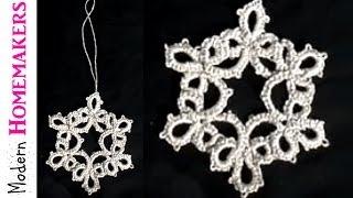 getlinkyoutube.com-Tatted Snowflake Part 1