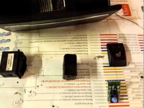Ремонт подсветки блока климат-контроля Крайслер.