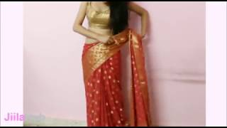 getlinkyoutube.com-Artistic Saree Wearing Method:How To Wrap Indian Ethnic Sari(Steps)
