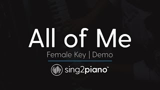 getlinkyoutube.com-All of Me (Female Key - Karaoke Demo) John Legend
