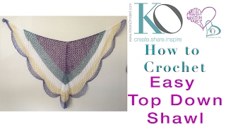 Lacy Cake Easy Crochet Shawl Top Down Triangle Shawl