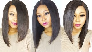 How To Make/Cut A Versatile Bob Wig || Start To Finish || With Customised Silk Closure.