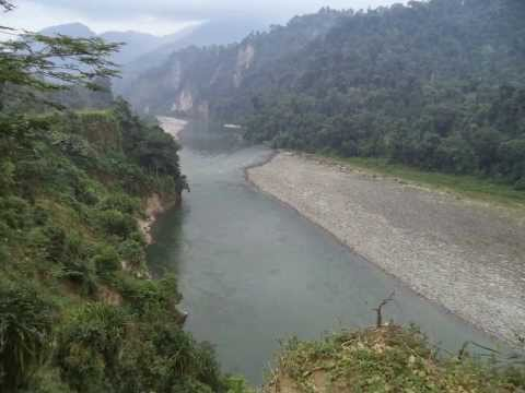 Assam to Arunachal with Kameng River.