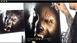 "getlinkyoutube.com-""The Wolf Man"" Mastering Photo Realism Airbrushing w/ Cory Saint Clair"