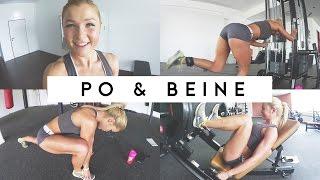 getlinkyoutube.com-Vlog ♥ Follow me to the Gym ♥ Neues Po- Beine Training | Sophia Thiel