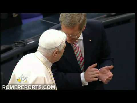 Pope calls on Germany's parliament to recognize what is just
