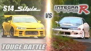"getlinkyoutube.com-[ENG CC] ""Circuit Club"" Integra R vs. ""Champ"" S14 Silvia Touge Battle HV57"
