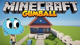 getlinkyoutube.com-Minecraft: Como construir a casa do Gumball (The Amazing World of Gumball)