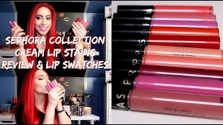 getlinkyoutube.com-SEPHORA COLLECTION Cream Lip Stains Review & Lip swatches