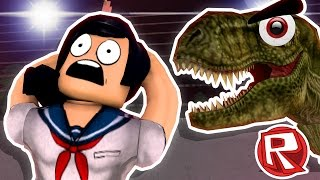 getlinkyoutube.com-YANDERE CHASED BY TREX - Roblox