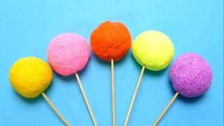 getlinkyoutube.com-Fancy Foam Lollipops with Surprise Egg Toys