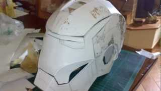 getlinkyoutube.com-Iron Man Helmet - Mark III - Scratch Build DIY - First try
