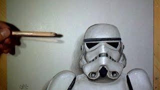getlinkyoutube.com-Speed Drawing: Stormtrooper (Star Wars)