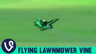 getlinkyoutube.com-Lawnmower Flying To Music Vine Compilation! | Top Vines of 2015!