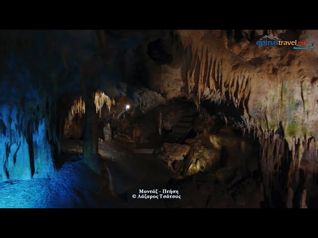 Anemotripa cave with unique lake film by drone