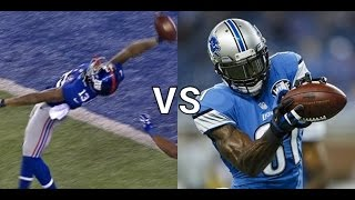 getlinkyoutube.com-Can Odell Beckham Jr Get a 100+yd Pick Six TD While Covering Calvin Johnson? Madden Gameplay