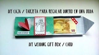 getlinkyoutube.com-Caja / tarjeta para regalar dinero en una boda - DIY wedding gift box / card