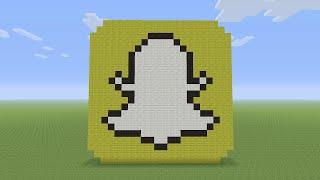 getlinkyoutube.com-Minecraft Pixel Art - Snapchat Logo
